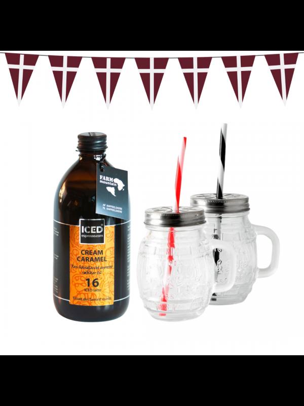 ICED espresso + 2 glaskopper