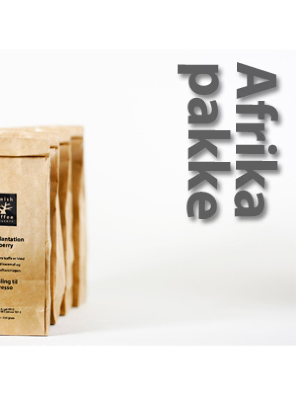 Afrikapakke 4x225 gram - rå bønner