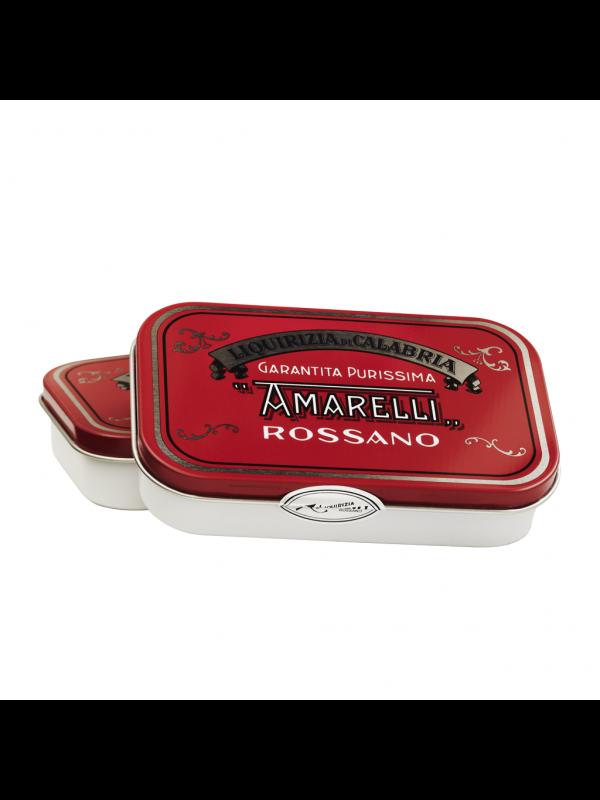 Amarelli Spezzatina - Ren Lakrids, rød æske