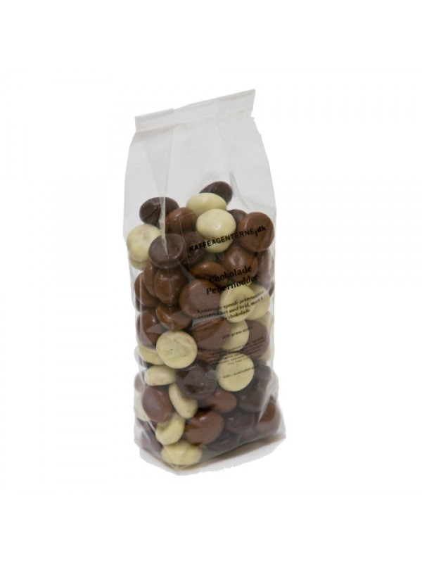 Pebernødder m/chokolade - 200 gr.