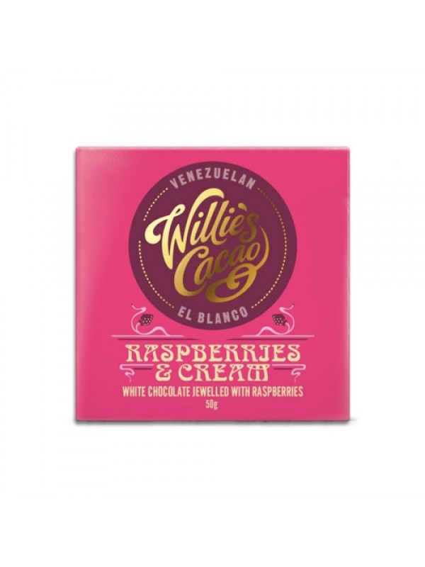 Willies Cacao Rasperries and Cream, 50 gr.-310