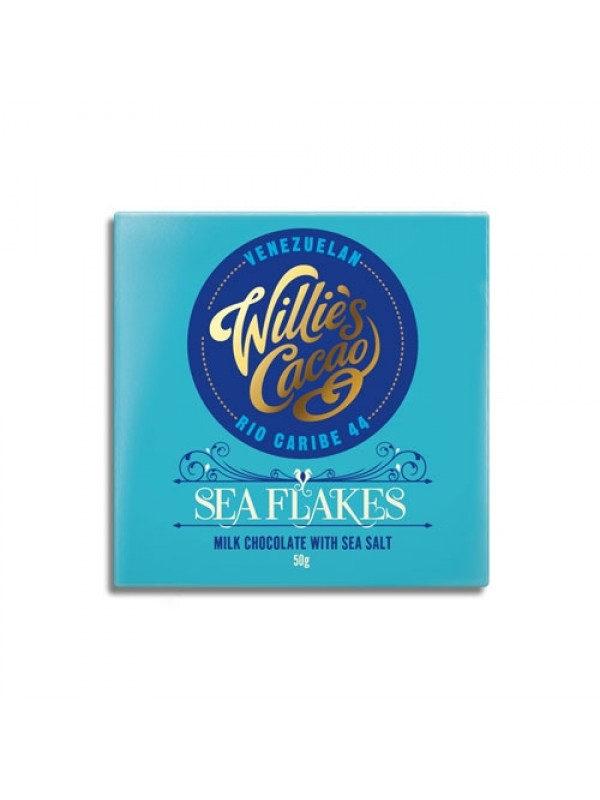 Willies Cacao Sea Flakes 44%, 50 gr.-39