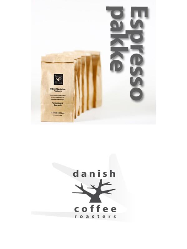 Espressopakke 4 x 225 gram, friskristet espresso