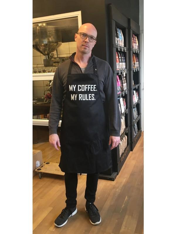Barista forklæde, 'My Coffee - My rules'