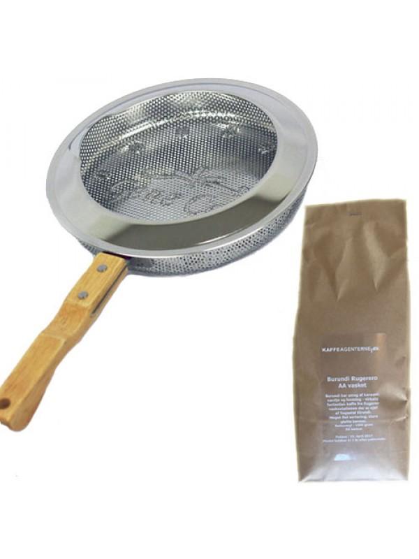 GeneCafe Pan Roaster - ristepande inkl. 1 kg. rå Burundikaffe