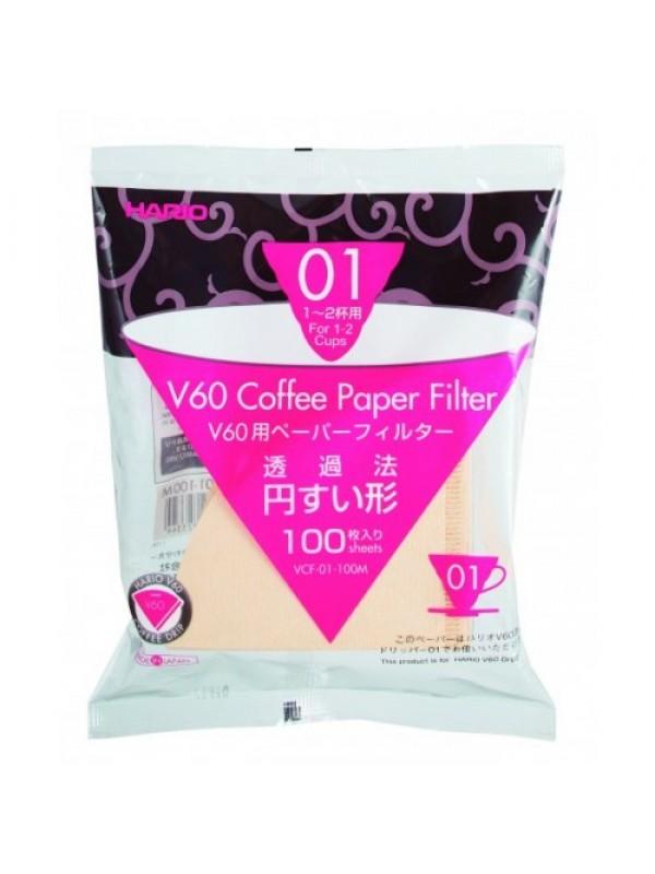 Hario V60 01, 1-2 kops filtre, 100 stk