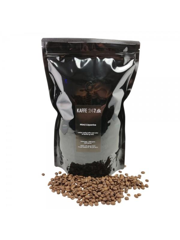 Mint/lakrids kaffe, 1000 gr. hele bønner-310