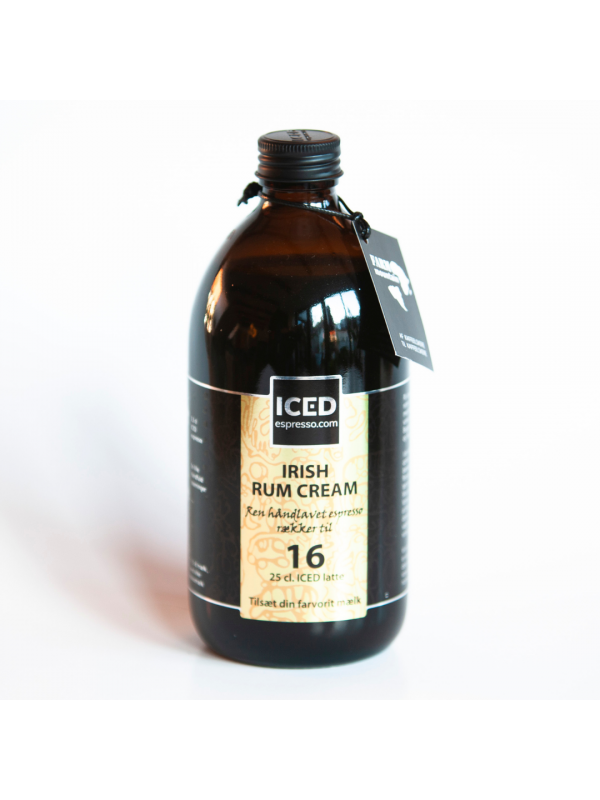 Iced Espresso Irish Rum Cream, 16 shots - ½ liter