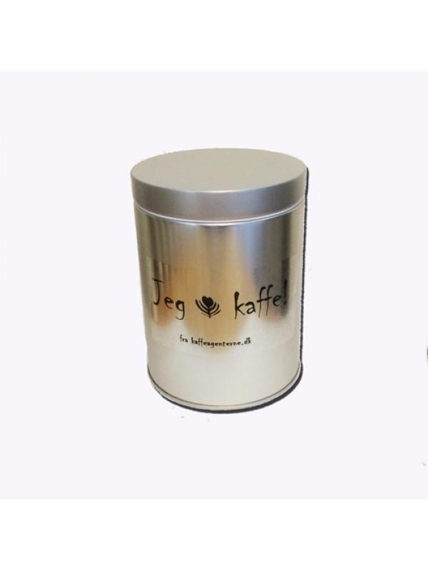 Kaffedåse 300 gr. m/ventil, sølv