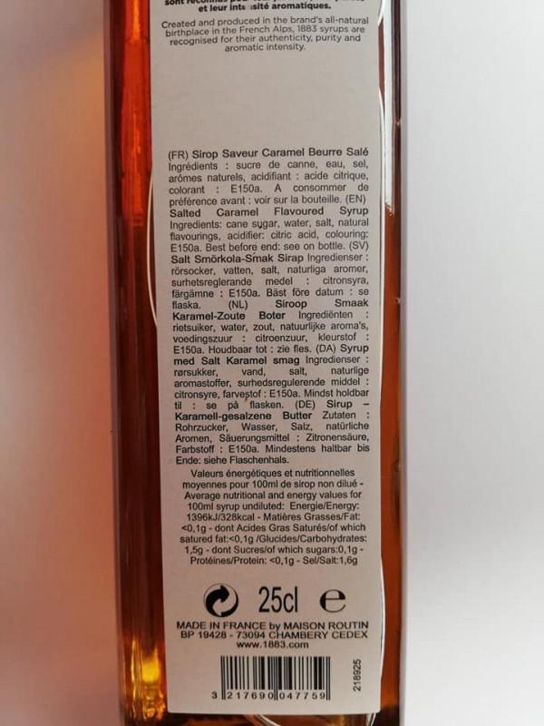 1883 Salt karamel/rørsukker sirup 25cl.-09