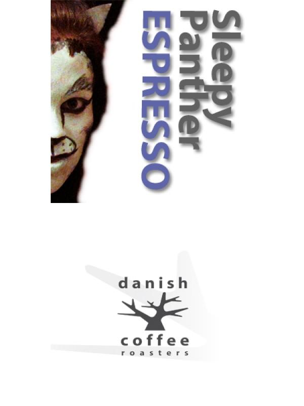 Sleepy Panther Espresso økologisk - koffeinfri, ristet