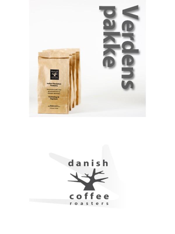 Verdenspakke 4 x 225 gram friskristet kaffe