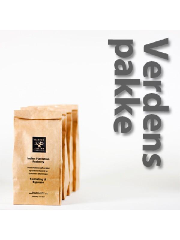 Verdenspakke 4 x 225 gram rå bønner