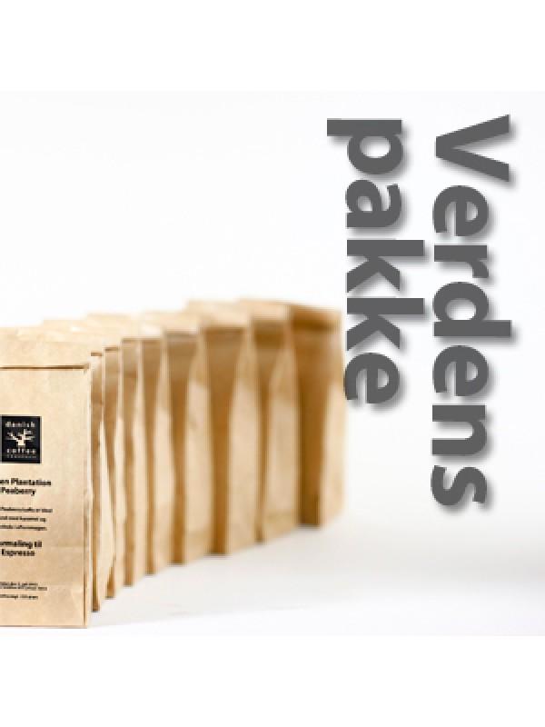 Verdenspakke 9 x 225 gram - rå bønner