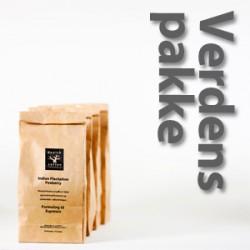 Verdenspakke 4x225 gram - rå bønner