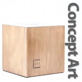 Concept Art knockbox - brunbejdset