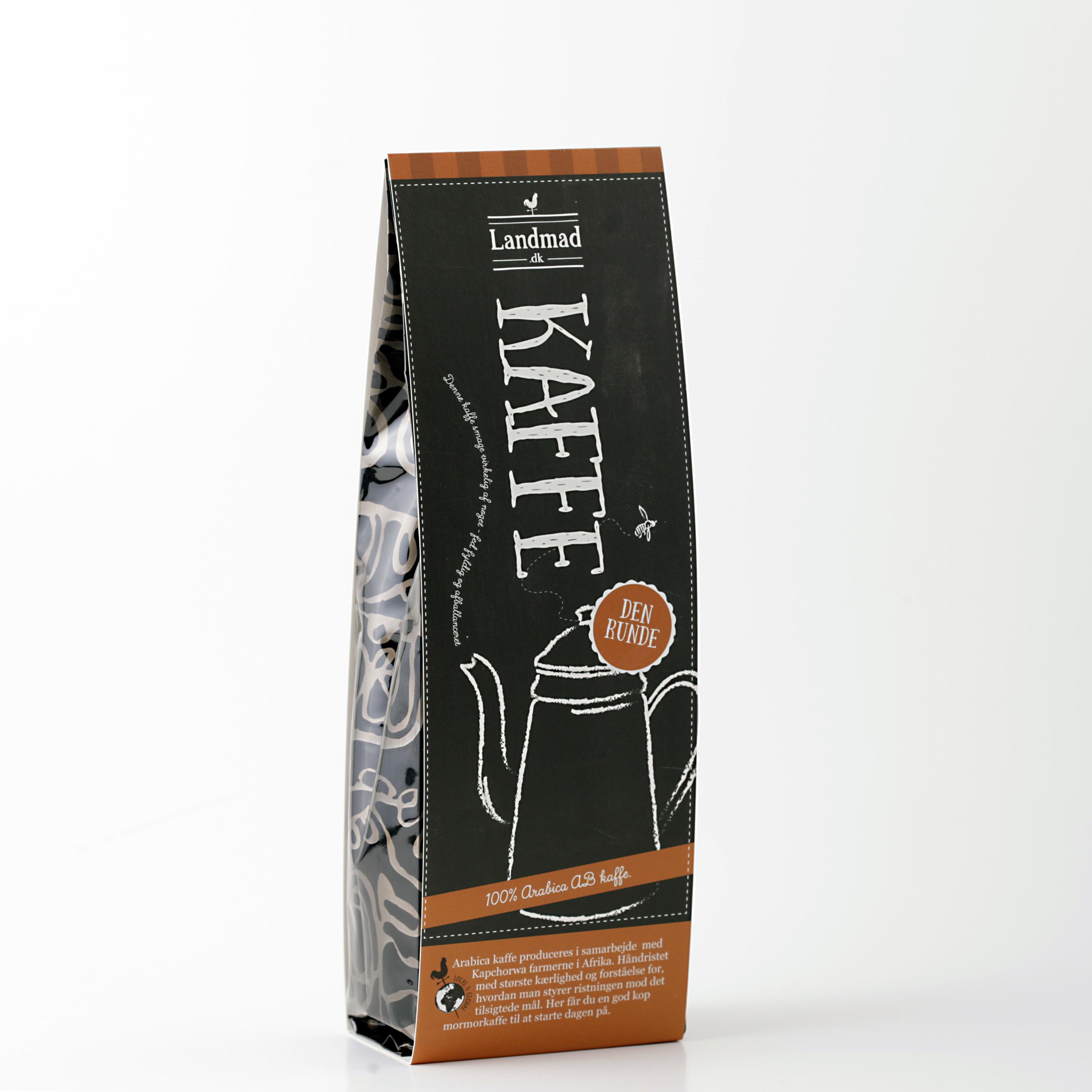 Kaffe produceret til Landmad butikkerne